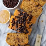Healthy Chocolate Chip Sweet Potato Bread