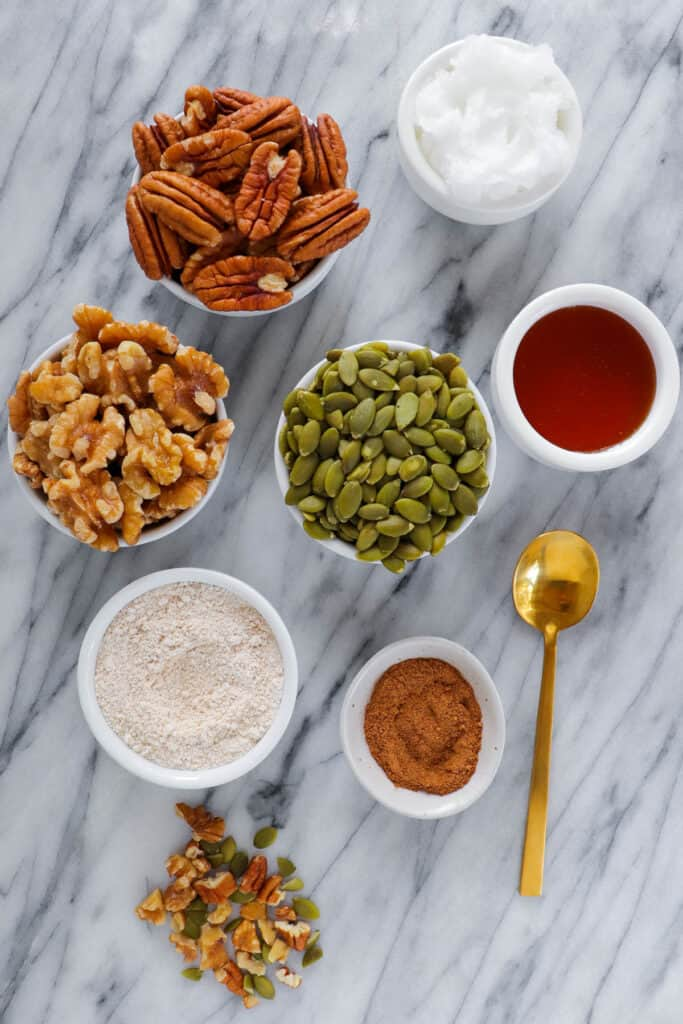 Crumb topping ingredients.