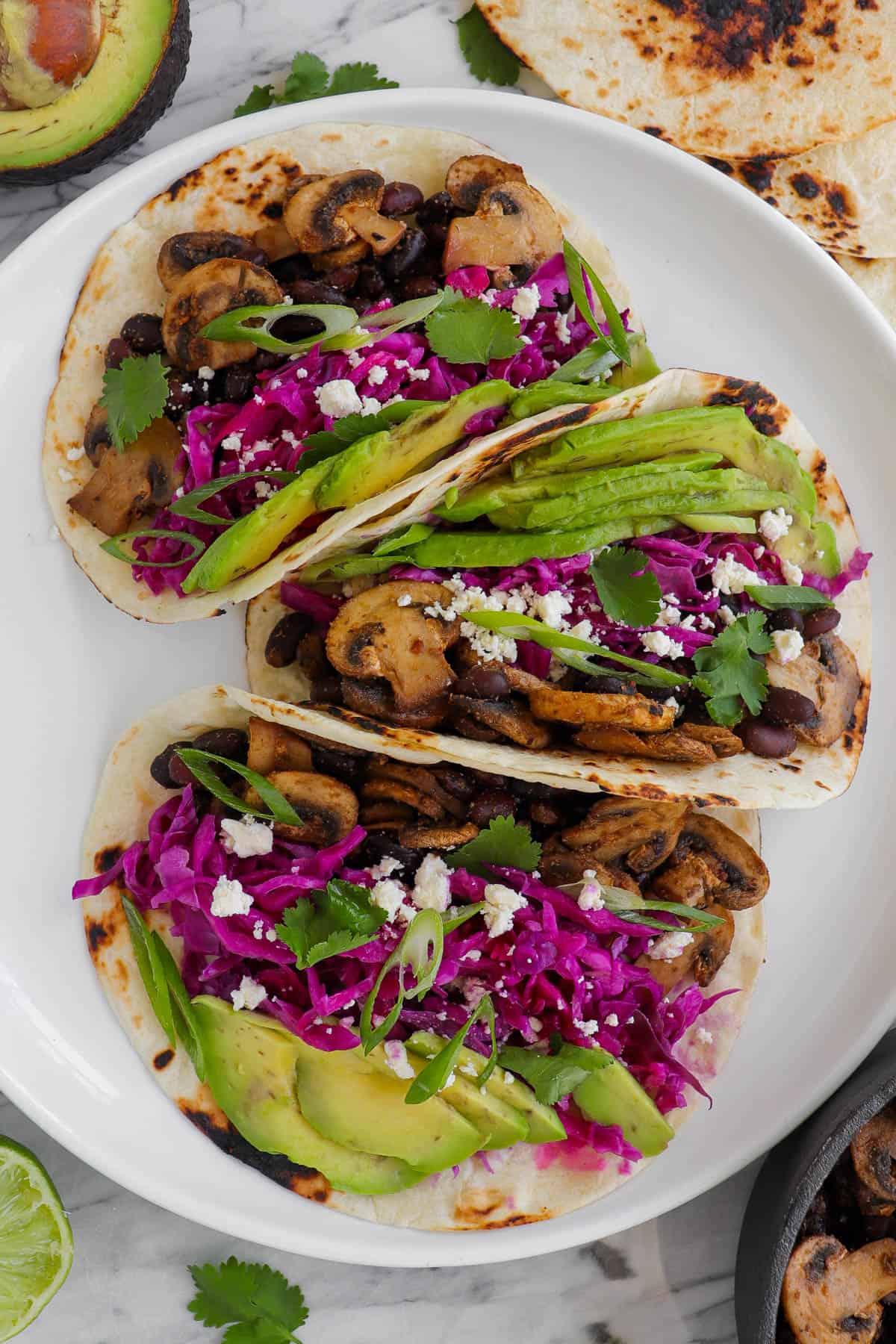 Close up shot of tacos.
