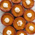 Dreamy Mini Paleo Pumpkin Pies