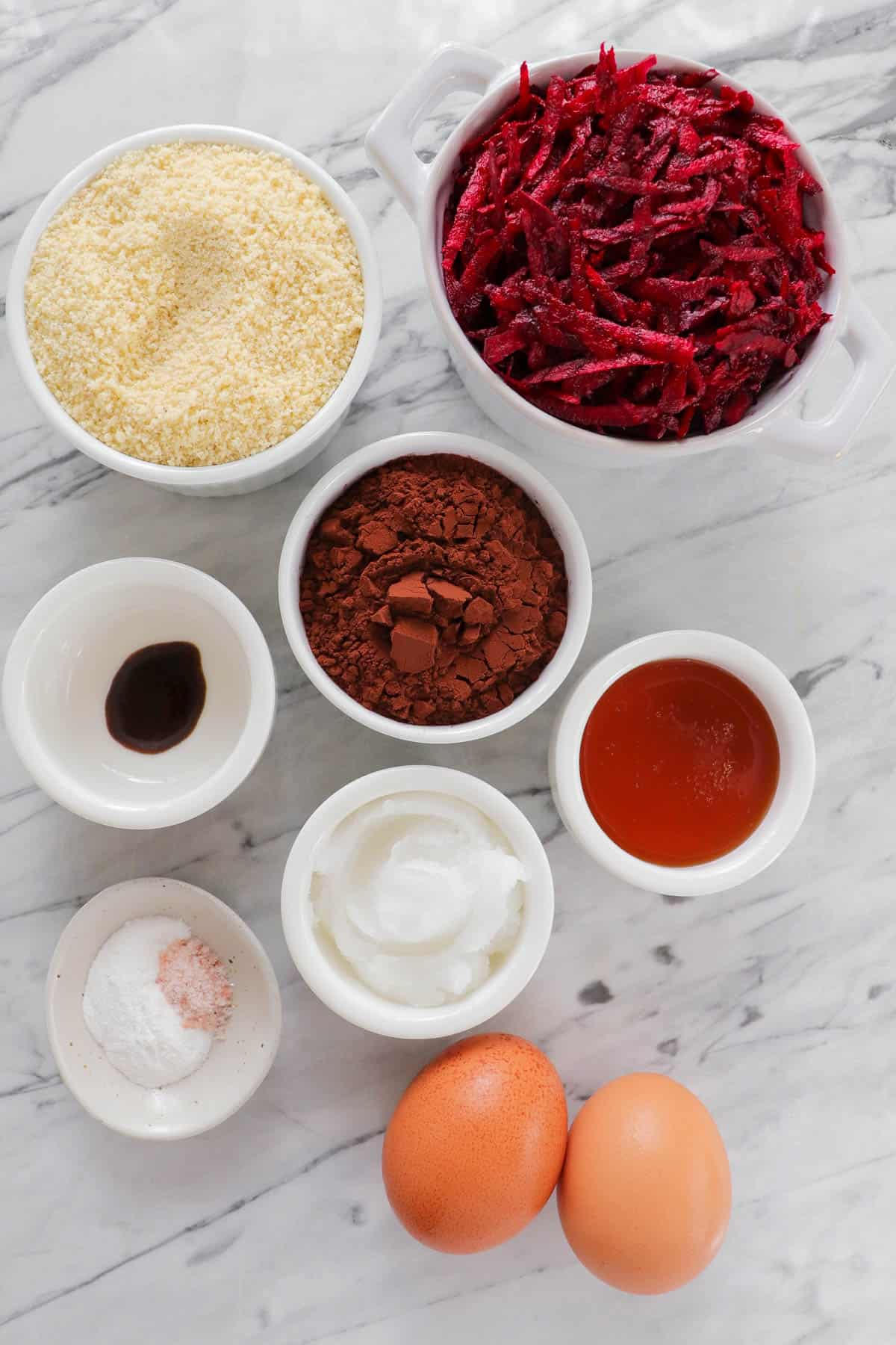 Ingredients for muffins.