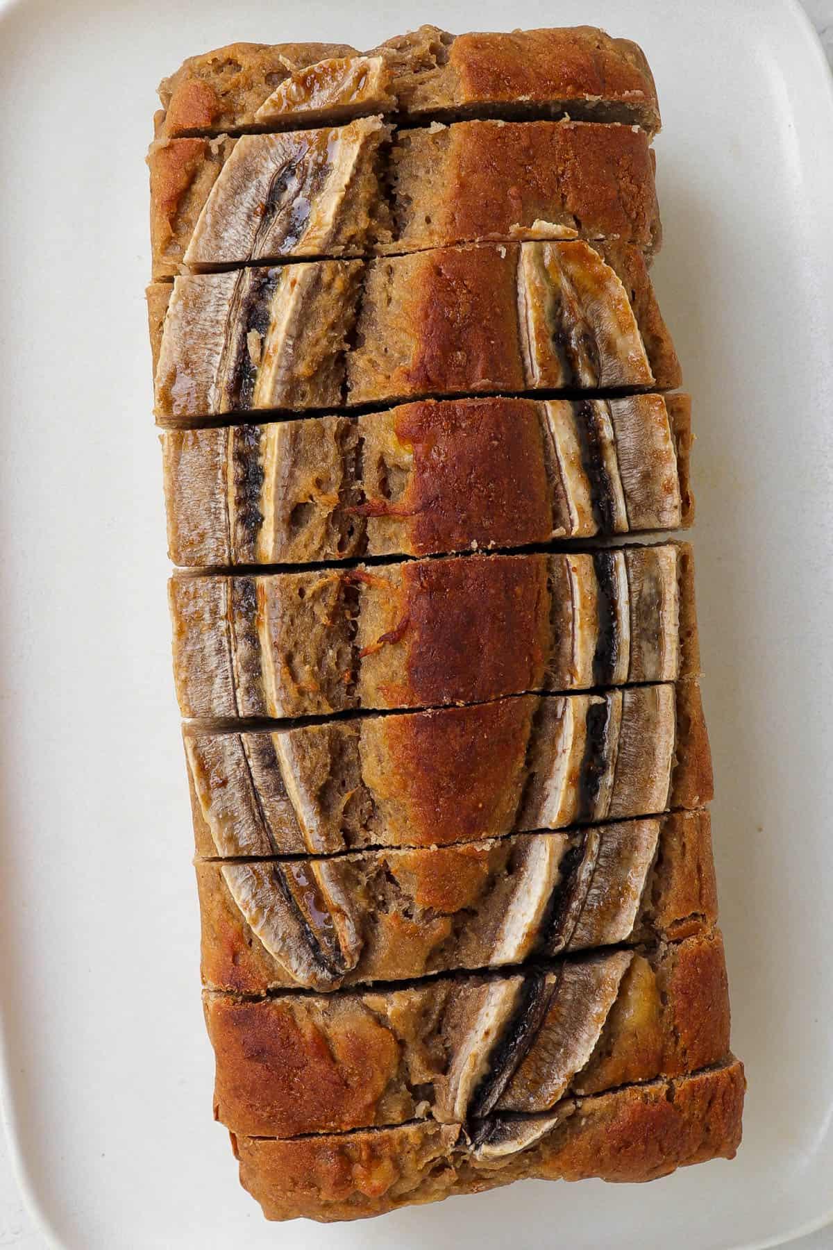 Whole loaf sliced up.