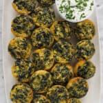 Mini Spinach and Feta Quiche
