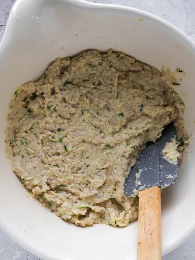 Ingredients in mixing bowl.